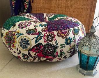 SALE Unfilled 24 Inch Gypsy Caravan Pouffe Cover, Made in Australia, Floor Cushion, Ottoman, Meditation Cushion, Boho, Pouf, Hippy
