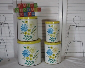 Vintage canister set made in U.S.A by NC colorware