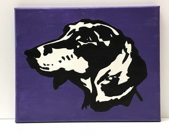 """Handpainted Dachshund 8"""" x 10"""" Canvas Painting Picture Wall Hanging Decor"""