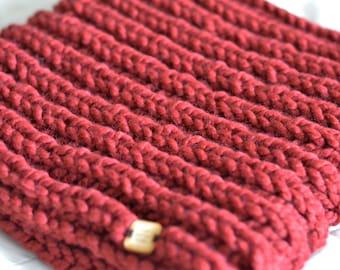 Hand Knit Chunky Cowl | Handmade Chunky Infinity Scarf | 'Cloud' Cowl