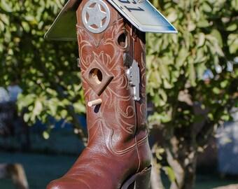 Western Cowboy Boot Bird House