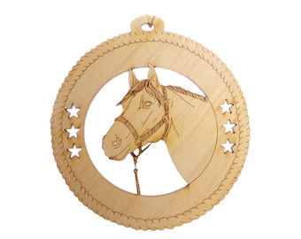 Horse Ornament with Names - Equestrian Ornament - Horse Ornaments - Gift for Horse Lover - Horse Gift - Equestrian Gifts - Personalized Free