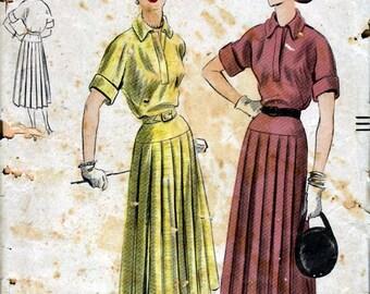 Bust 32- FACTORY FOLDED 1950's Misses' Dress  Vogue 7046  Size 14