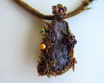 Embellished Cherry Tanzanite Necklace