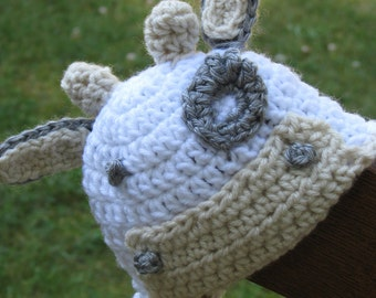 Alfred The Bull Crochet Hat Pattern Size Newborn - Adult