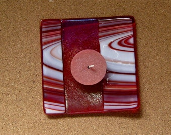 Fused Glass Christmas Plate - Fused Glass Candle Holder - Fused Glass Holiday Decor - Fused Glass Candy Dish - Sushi Plate