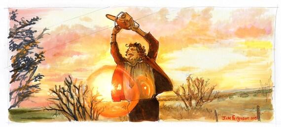 The Texas Chain Saw Massacre - The End Print