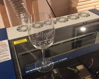 24 Custom Engraved Wine Glasses