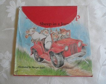 Sheep In A Jeep Children Book 1986 Hardcover