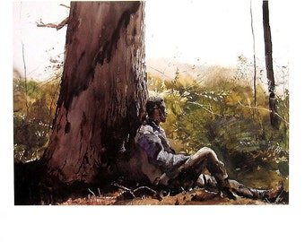 Andrew Wyeth Art - Family Tree - 1992 Vintage Reproduction Book Page - 12 x 9