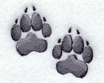Dog Paw Prints Embroidered Flour Sack Hand/Dish Towel