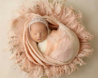 Felted set inspired by Ana Brandt, newborn photography props ** SPECIAL **