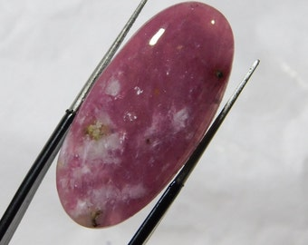 22.10 Cts (34X10X4) mm Oval Shape Beautiful Top Quality Natural rubellite tourmaline Quartz Smooth Plain Cabochon Free Shipping