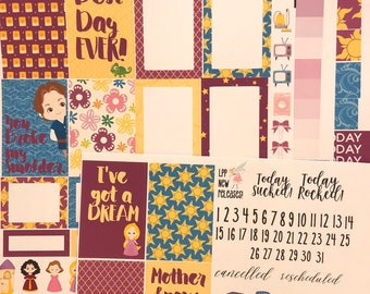 Rapunzel Weekly Planner Stickers Set - for use with Erin Condren - Happy Planner Stickers - Fairy Tale Stickers