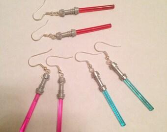 Star Wars lightsaber lego earrings