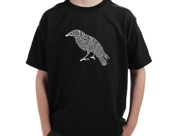 Boy's T-shirt - Created Using the First Few Lines from Edgar Allen Poe's The Raven