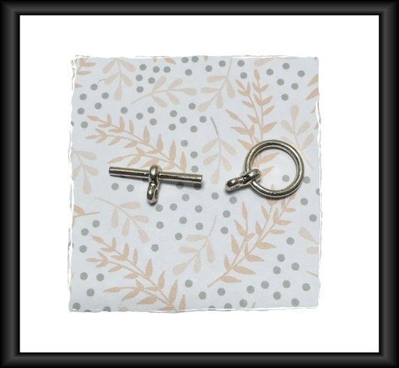 Silver 20 mm Toggle Clasp