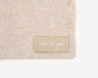 Dailylike Sew-on Label : Thank you Tag