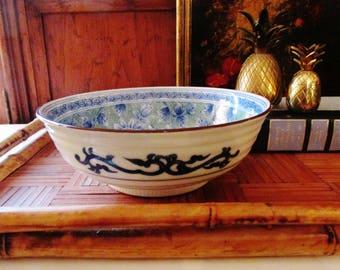 Vintage Chinoiserie Dish, Japanese Porcelain Dish, Palm Beach Decor, Hollywood Regency, Coffee Table Decor