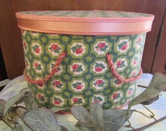 Vintage Floral Sewing Box