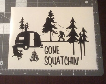 Gone Squatching Vinyl Adhesive Decal