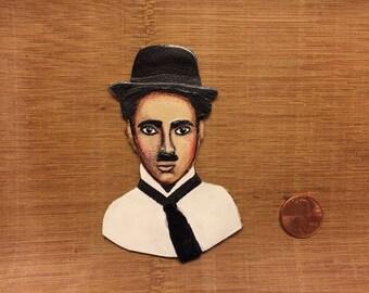 Charlie Chaplin pin/brooch