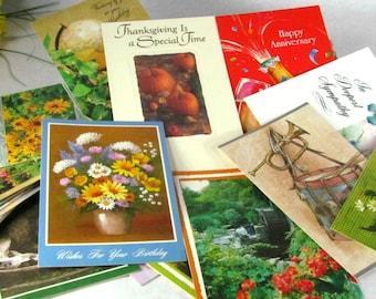 Large Unused Greeting Card Lot 45 Plus Cards Vintage Re-Purpose Scrapbook