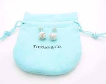 Tiffany & Co. Sterling Silver Twist Knot Stud Earrings - Pouch