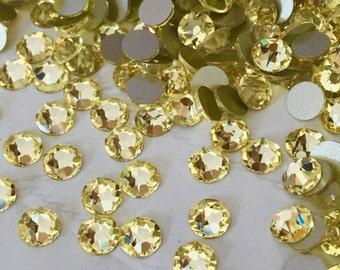 SWAROVSKI - No Hotfix - Article 2088 - JONQUIL yellow - XIRIUS Rose - Crystals, Rhinestones, Diamantes, Flat Backs - 5 Sizes Available