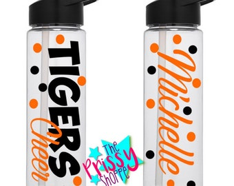 Team Water Bottles/ Team Gifts/Water Bottle/Cheer/Cheerleader/Cheerleading/cheerleading Bottles