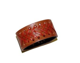 The Cognac Dakota Handmade Leather Bracelet