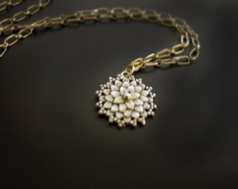 Dahlia Sterling Silver Necklace