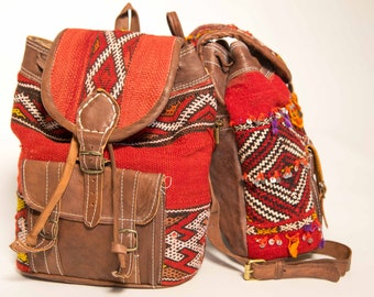 Moroccan Leather Backpacks