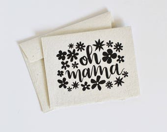 Mother's Day Card with envelope - Handmade Paper