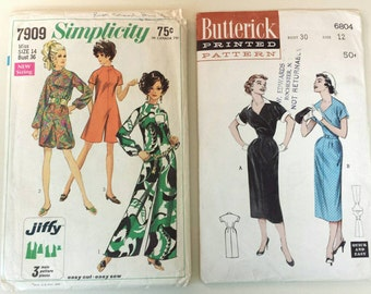 Vintage set of patterns Butterick and Simplicity 1950's and 1960's