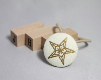 Children/Everyday/Girls - Christmas Fabric covered button hair tie