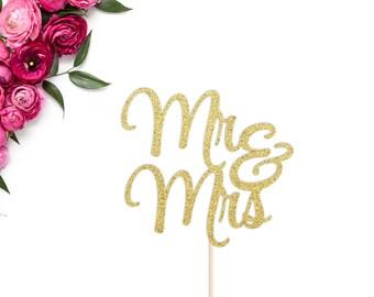 Mr & Mrs Cake Topper   Wedding Cake Topper   Engagement Cake Topper   Wedding Decor   Engagement Party   Mr and Mrs Wedding Cake Topper