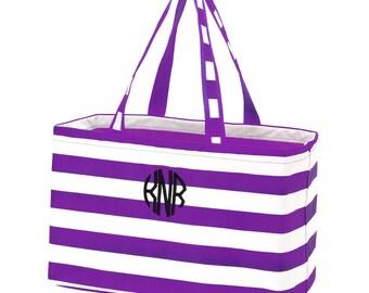 College Laundry Bag - Summer Beach Tote  - XL Monogram Beach Bag - Travel Tote - Monogram Beach Bag