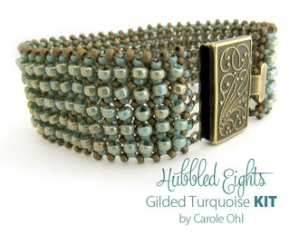 Hubbled Eights KIT: Gilded Turquoise by Carole Ohl