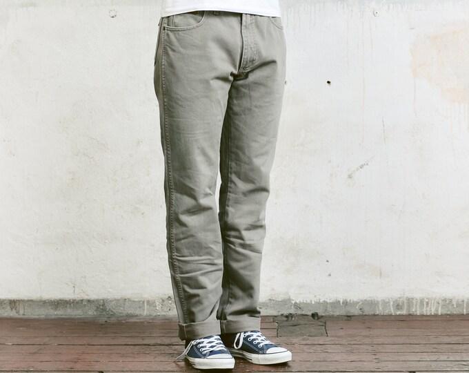 Vintage Wrangler Jeans . Vintage 90s Tapered Jeans Grey Denim Pants Mens Denim Trousers Straight Leg Mens 90s Jeans Urban Jeans . W34 L34