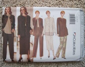 UNCUT Misses / Misses Petite Jacket, Top, Skirt and Pants - Butterick Pattern 4582
