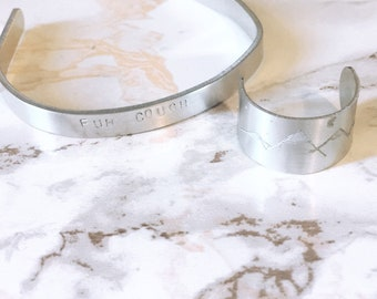 Stamped Cuff Bracelet *Customizable*