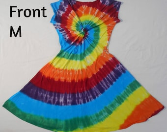 Dress, Tie Dye, Twisted Front, Size Medium