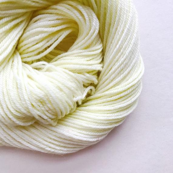 LIMEWHITE hand dyed yarn