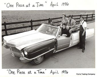 Johnny Cash - 1976 - One Piece at a Time - Photo - Song - Musician - Country - Cadillac - Car - Singer - Legend - Man Cave - Wall Art - Art