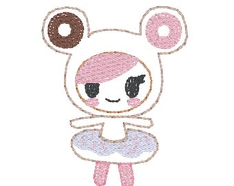 Feltie Embroidery Design - Characters - Embroidery Design - Donut Girl
