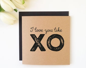 XO - Lovers Card