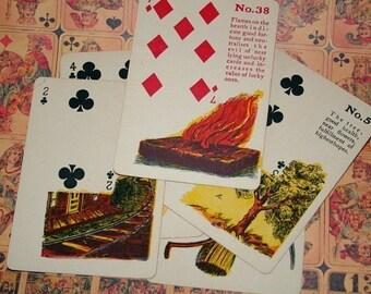 Vintage Fortune Teller Karten - Pkg 3
