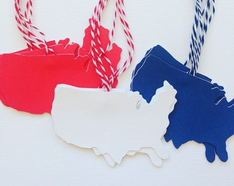 USA gift tags/USA party favor tags