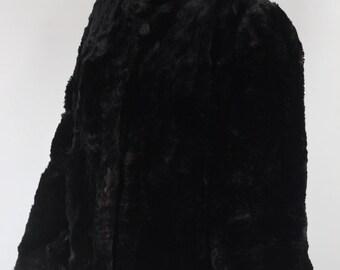 1960's Sheared Beaver Fur Swing Coat